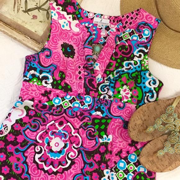 Jude Connally Ellie Dress Pink Paisley